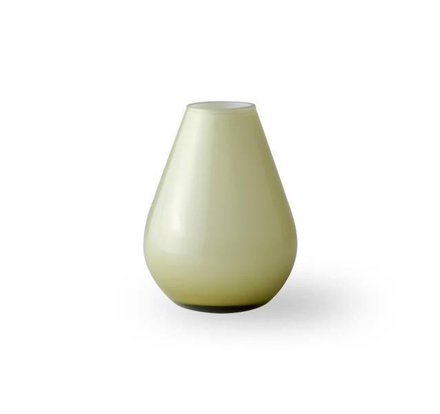 Glass vase 10 cm - Falla grønn/hvit