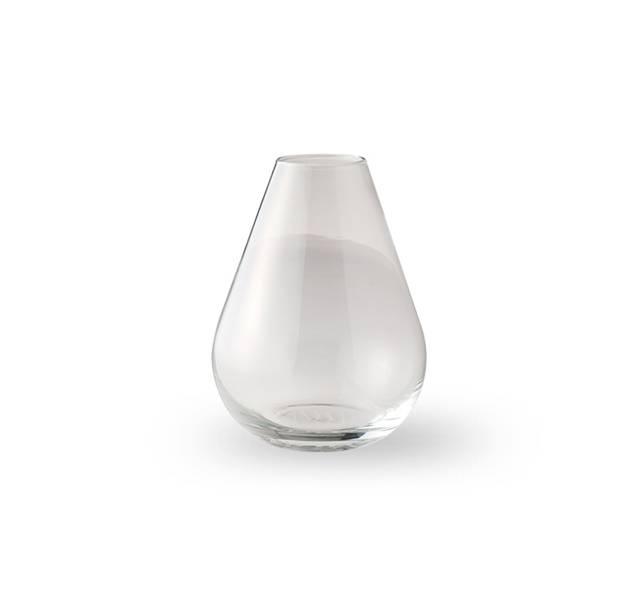 Glass vase 10 cm - Falla klar/transparant