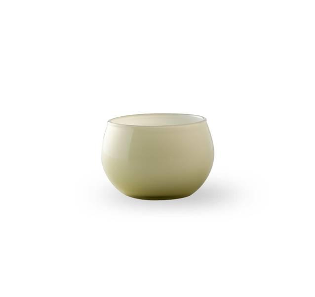 Glass lyslykt - Falla grønn/hvit