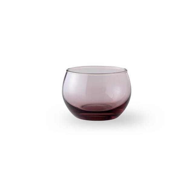 Glass lyslykt - Falla klar rosa