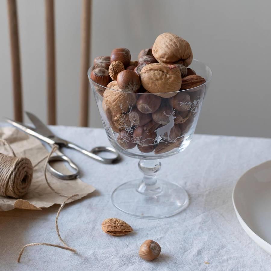 Glass dessertskål - Alveskog