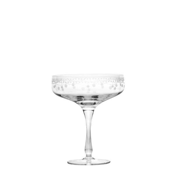 Champagne skål 20 cl - Julemorgen