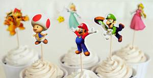 Bilde av Cupcake Dekorasjon Super Mario (24 Stk)