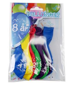 Bilde av Ballonger 8 År 8 Stk