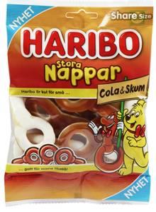 Bilde av Haribo Stora Nappar Cola & Skum170g