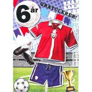 Bilde av Bursdagskort 6 År Fotball