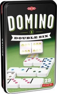Bilde av Tactic Domino Double Six I Tinnboks - Europeisk