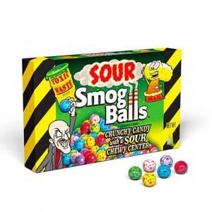 Bilde av Toxic Waste Sour Smog Balls Theatre Box 85g