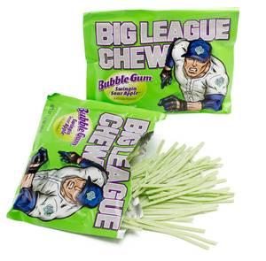 Bilde av Big League Chew Bubble Gum Swinging` Sour Apple