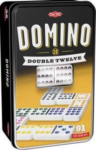 Bilde av Tactic Domino Double Twelve I Tinnboks -
