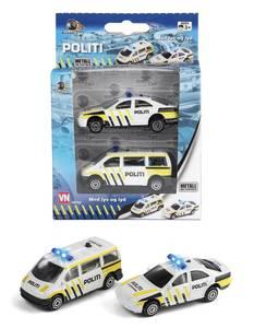 Bilde av Norske Politibiler Med Lyd & Lys 2 PK VN Leker