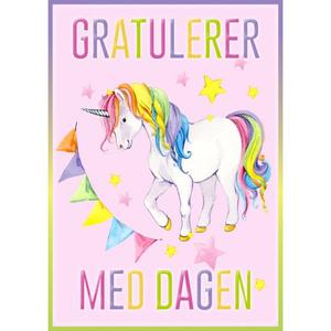 Bilde av Bursdagskort - Enhjørning