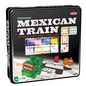 Bilde av Tactic Mexican Train Domino Original I Tinnboks -