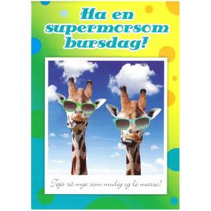 Bilde av Bursdagskort - Giraff