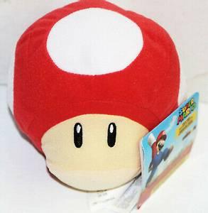 Bilde av Super Mario Plysj Red Super Mushroom Med Lyd