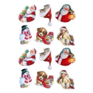 Bilde av Klistremerker Juletema Med Glitter - 24 Merker