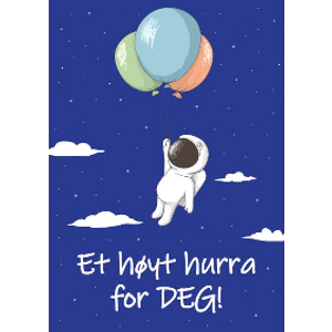 Bilde av Bursdagskort - Astronaut