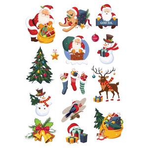Bilde av Klistremerker Juletema Diverse Med Glitter-