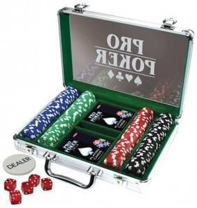 Bilde av Pro Poker Game Set 200 Chips I Aluminiumskoffert