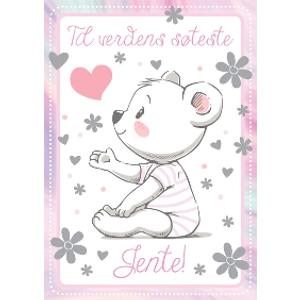 Bilde av Bursdagskort Jente - Bamse