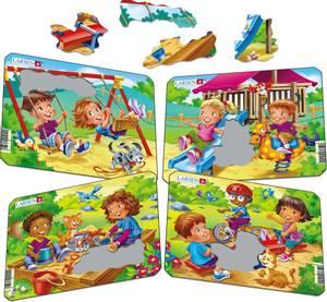 Bilde av Puslespill Mini Barn Som Leker Tema - 7 Brikker