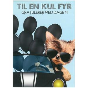 Bilde av Bursdagskort - Kul Hund