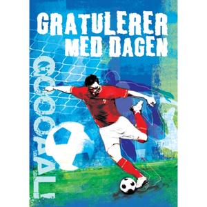 Bilde av Bursdagskort - Fotballspiller