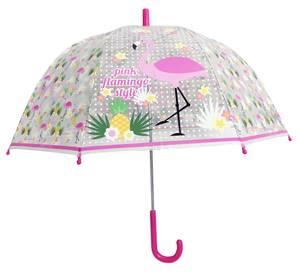 Bilde av Paraply Til Barn Flamingo Transparent