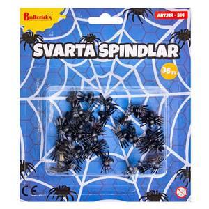Bilde av Svarte Edderkopper 36 stk