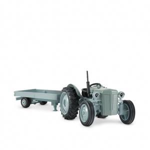 Bilde av Gråtass Traktor Med Tilhenger 1:32