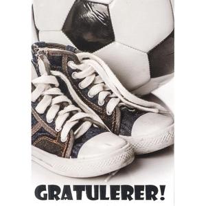 Bilde av Bursdagskort - Sko & Fotball