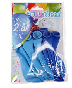 Bilde av Ballonger 2 År Blå 8 Stk