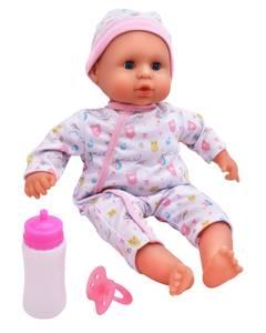 Bilde av Dolls World Baby Joy Med Smokk & Flaske 38 cm
