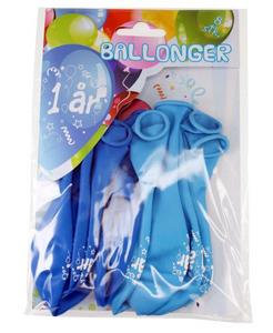 Bilde av Ballonger 1 År Blå 8 Stk
