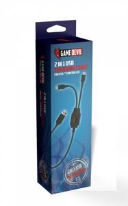 Bilde av GameDevil 2 In 1 USB Charging Cable For PS4