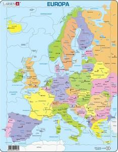 Bilde av Platepusle Kart - Europa Larsen(37 Brikker)