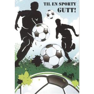 Bilde av Bursdagskort Mini Med Konvolutt - Fotballer