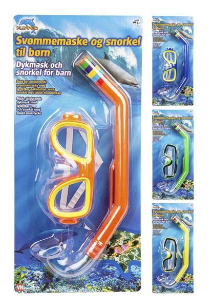 Dykkermaske Og Snorkel Til Barn 15cm Flipper