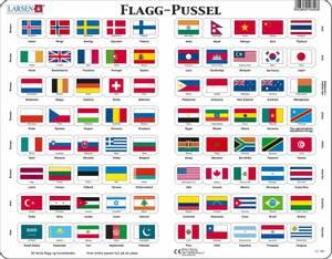 Bilde av Platepusle Flagg Fra Hele Verden Larsen(80
