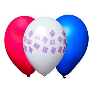 Bilde av Ballonger Norske Flagg, Hvitt, Rødt og Blått 10