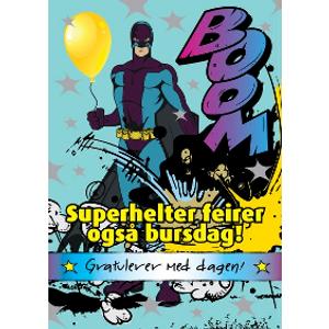 Bilde av Bursdagskort - Superhelter Feirer Også Bursdag!