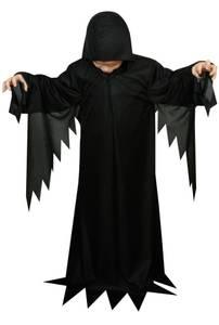 Bilde av Svart Kåpe Kostyme Til Barn 5-6 År
