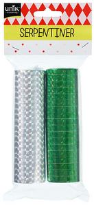 Bilde av Serpentiner Grønn & Sølv Unil 2 stk