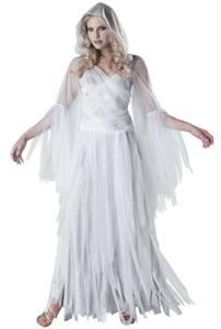Bilde av Spøkelseskjole Lang Kostyme For Voksen One Size