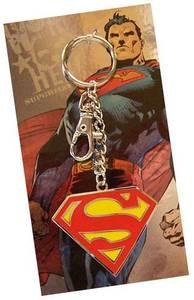 Bilde av Nøkkelring Superman - Rød S, Gul Bakgrunn