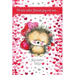 Bilde av Valentinekort Dobbelt Med Rød Konvolutt - Til Den