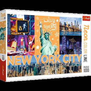 Bilde av Trefl Neon New York City Puslespill (1000