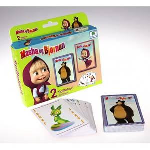 Bilde av Barbo Toys Playing Card Masha og Bjørnen