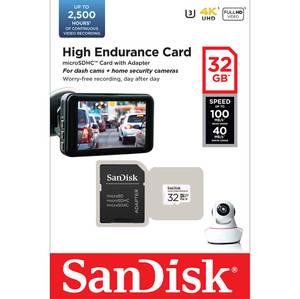 Bilde av SANDISK MicroSDHC 32GB High Endurance Med Adapter