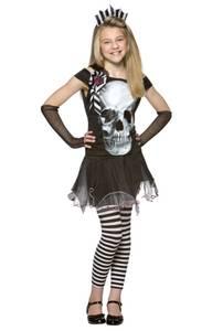 Bilde av Skjelettkjole Kostyme Til Barn 9-10 År